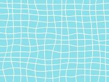 Fond abstrait des lignes onduleuses blanches et bleues légères avec la grille incurvée photos stock