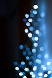 Fond abstrait des lumières bleues d'endroit Image libre de droits