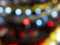 Fond abstrait des lumières de Noël Images stock