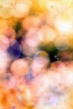 Fond abstrait des lumières et des étoiles de Noël Photographie stock libre de droits