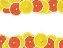 Fond abstrait des parts de citron Photographie stock