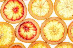 Fond abstrait des parts de citron photo stock