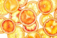 Fond abstrait des parts de citron image stock