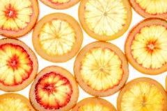 Fond abstrait des parts de citron photographie stock libre de droits