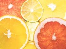Fond abstrait des parts de citron Plan rapproché Photo libre de droits