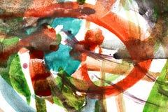 Fond abstrait des peintures d'aquarelle Images stock