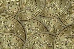 Fond abstrait des pièces de monnaie de la Russie image libre de droits