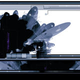 Fond abstrait des sciences fiction Photos stock