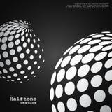 Fond abstrait des sphères tramées dans la couleur blanche Images libres de droits