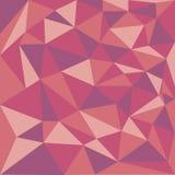 Fond abstrait des triangles dans des tons rouges Image stock
