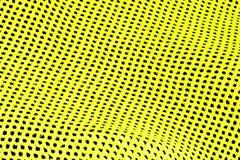 Fond abstrait des trous noirs jaunes et dans la rangée Photographie stock libre de droits