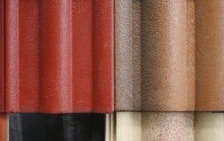 Fond abstrait des tuiles de toit de recouvrement Photo stock