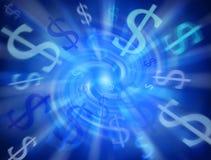 Fond abstrait du dollar d'argent Images libres de droits