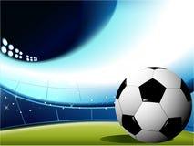 Fond abstrait du football Image libre de droits