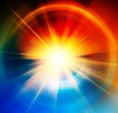 Fond abstrait du soleil Images stock