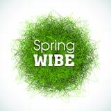 Fond abstrait, effet d'herbe pour des affiches, bannières et papiers peints Slogan de wibe de ressort Ilustration pour la copie Photo libre de droits