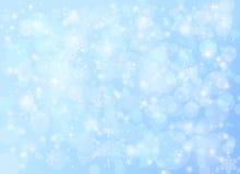 Fond abstrait en baisse de neige de Noël de vacances d'hiver Photographie stock