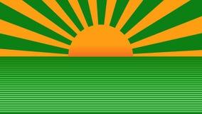 Fond abstrait en hausse 3d du beau rétro soleil radial rendre illustration de vecteur