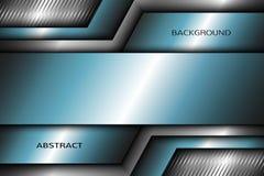 Fond abstrait en métal avec des éléments de turquoise Photo stock