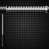 Fond abstrait en métal de vecteur avec une vis Photo stock