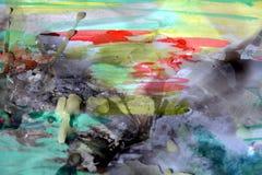 Fond abstrait en pastel de cire d'aquarelle, image colorée Images libres de droits