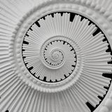Fond abstrait en spirale de moulage de modèle de fractale de plâtre de stuc blanc Fond en spirale abstrait d'effet de plâtre sur  Photo stock