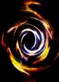 Fond abstrait et cercle jaune, et craquement de désert, concept du feu illustration libre de droits