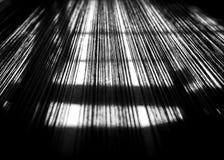 Fond abstrait et de tache floue Ligne de tissu de coton thaïlandais noir Photos libres de droits