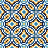 Fond abstrait ethnique lumineux Modèle sans couture avec l'ornement géométrique symétrique illustration libre de droits
