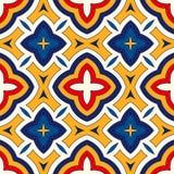 Fond abstrait ethnique lumineux Modèle sans couture avec l'ornement géométrique symétrique illustration stock