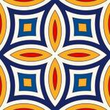 Fond abstrait ethnique lumineux Modèle sans couture avec l'ornement géométrique symétrique illustration de vecteur