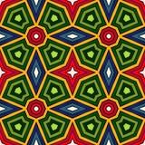 Fond abstrait ethnique lumineux Modèle sans couture de kaléidoscope avec l'ornement décoratif dans le style africain Illustration Libre de Droits