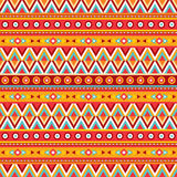 Fond abstrait ethnique Modèle sans couture tribal de vecteur Style de mode de Boho Conception décorative Photographie stock