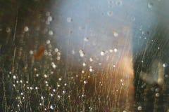 Fond abstrait - flashes et rayons de couleur claire sur le noir Fusée de lentille Pour l'usage comme couche de texture dans votre Image libre de droits