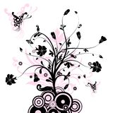 Fond abstrait floral,   Image stock