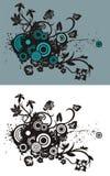 Fond abstrait floral stock abbildung