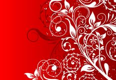 Fond abstrait floral, vecteur Photo libre de droits