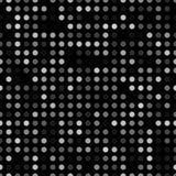 Fond abstrait foncé avec les cercles légers Modèle sans couture de technologie géométrique de mosaïque Blanc noir de contexte Photographie stock