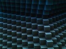 Fond abstrait foncé du modèle 3d-generated de cubes Photos libres de droits