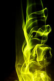 Fond abstrait - forme jaune d'incendie Photo stock