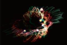 Fond abstrait génial de peinture d'effet de la lumière Photographie stock