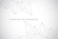 Fond abstrait géométrique avec la ligne et les points reliés Fond de réseau et de connexion pour votre présentation Polyg graphiq illustration de vecteur