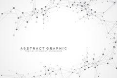 Fond abstrait géométrique avec la ligne et les points reliés Fond graphique pour votre conception Illustration de vecteur illustration de vecteur