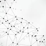 Fond abstrait géométrique avec la ligne et les points reliés Molécule et communication de structure Grande visualisation de donné illustration stock