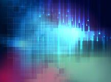 Fond abstrait géométrique coloré de grille et de tache floue Image stock