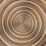Fond abstrait géométrique de cuivre en bronze de modèle de fractale de spirale d'ornement Forme en spirale de remous de fond d'ef Photographie stock libre de droits