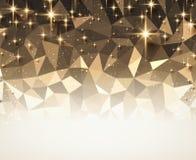 Fond abstrait géométrique de fête en bronze Photos libres de droits