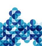Fond abstrait géométrique moderne bleu Photographie stock