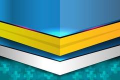 Fond abstrait géométrique moderne bleu Photo stock