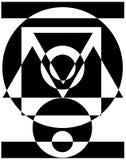 Fond abstrait géométrique monochrome illustration stock